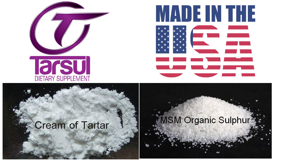 Tarsul Dietary Supplement | Cream of Tartar and Sulfur | Made In America